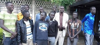 South Sudanese students occupy embassy in Harare in protest against unpaid arrears on Tuesday, 18 June 2019.