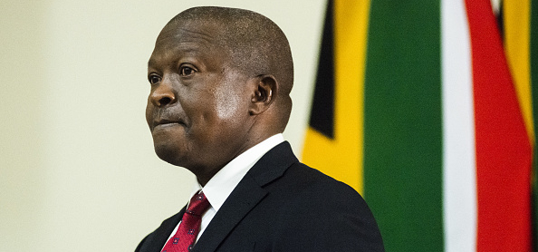 David Mabuza, South Africa's deputy president, at a past event. Photographer: Waldo Swiegers/Bloomberg via Getty Images