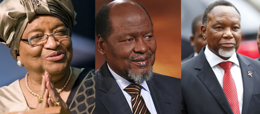 AU Special Envoys: Ellen Johnson-Sirleaf, former President of the Republic of Liberia; Joaquim Chissano, former President of the Republic of Mozambique; Kgalema Motlanthe, former President of the Republic of South Africa. [Photo: Addis Standard]