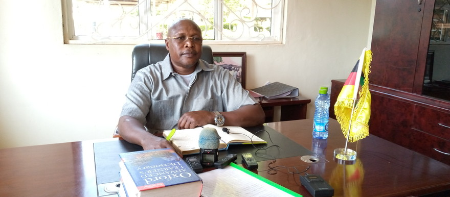 Eastern Equatoria State Governor Louis Lobong Lojore at his office in Torit. [Radio Tamazuj]