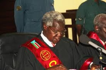 File photo: chief justice Chan Reech Madut
