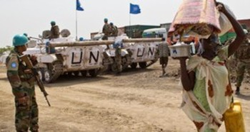 File photo: UNMISS peacekeepers at a base in Bentiu in January 2014 (Courtesy photo/Radio Tamazuj)