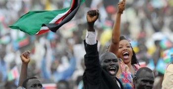 Thousands celebrate South Sudan independence in the capital Juba on July 9, 2011. (Roberto Schmidt/AFP/Getty Images)