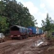 Photo: Trucks stranded on the Yei-Maridi road, 16 Sept. 2014 (Radio Tamazuj)